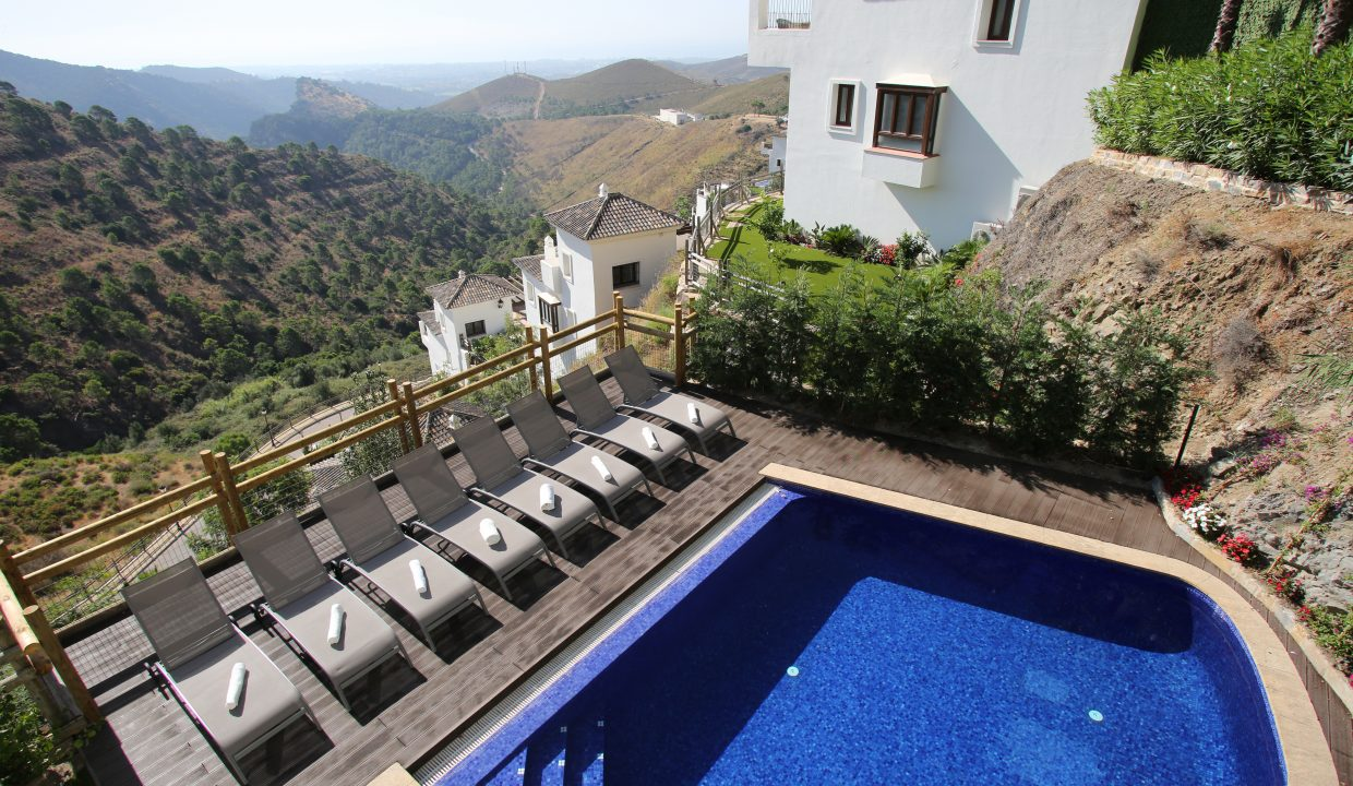 Villa Pool and Loungers